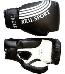 <b>Перчатки боксерские LEADER</b> 10 унций, черный — купить в ...