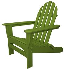 Recycled Plastic Classic Folding Adirondack Lime Green  S