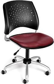 OFM Stars Swivel Vinyl Chair, Wine: Furniture & Decor - Amazon.com