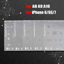 Japan Steel <b>BGA Reballing Stencil</b> Kit for iPhone X 8 8Plus 7 7Plus ...