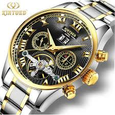 <b>KINYUED</b> Luxury <b>Mens Automatic Mechanical</b> Wristwatch Tourbillon ...