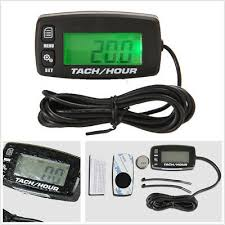 Hour Meter Tachometer Gauge <b>Backlight Digital inductive</b> Tach ...
