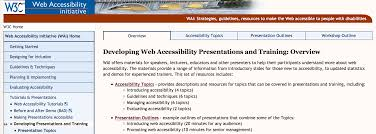 the wai to web accessibility training accessibility
