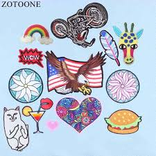 <b>ZOTOONE</b> Patches Heart Cheap Embroidered <b>Applique</b> Badges ...