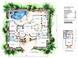 Luxurious House Plans   Front Sloping Lot House Plans Car Garage    Venetian House Plan