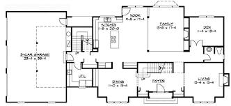 Traditional Colonial Home Plan   JD   nd Floor Master Suite    Floor Plan