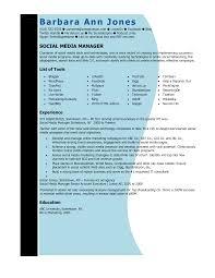 social media manager resume com social media manager resume and get ideas to create your resume the best way 6
