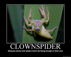 Clown Spider Meme   Slapcaption.com   Here Be Fun Stuff ... via Relatably.com