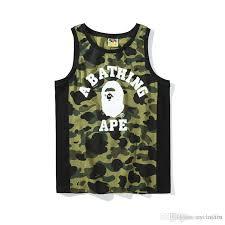 <b>2018</b> Summer New Men'S Camo <b>Cartoon Print</b> Casual Vest <b>T Shirts</b> ...