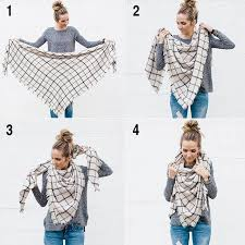 New Fashion <b>Winter Scarf Women</b> 2018 Triangle Warm <b>Plaid Scarf</b> ...
