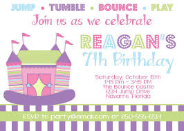 cute bounce house themed birthday party times invitation card cute bounce house themed birthday party 5x7 invitation card designed by partysoperfect