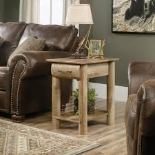 oak log cabins:  com sauder boone mountain end table in craftsman oak log cabin coffee table fabulous log cabin