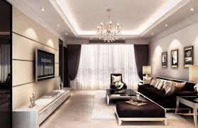 For Decorate A Living Room Interior Decoration Living Room Rendering With Tv Wall Sofa And