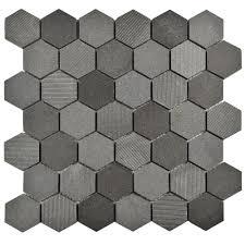 grey wall paint subtle mosaic tile