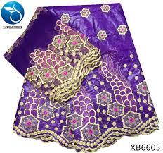 2019 <b>LIULANZHI</b> African Bazin Riche Fabric Purple Brode <b>Getzner</b> ...