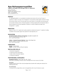 resume sample for logistics manager service resume resume sample for logistics manager warehouse specialist resume sample one logistics resume logistics resume sample writing
