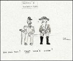 making     killer angels       the new york times lt div gt a cartoon by michael shaara  depicting a civil war veteran talking