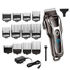 TURBO barber <b>hair clipper professional</b> men <b>hair trimmer LCD</b> ...