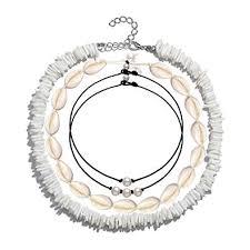 CENAPOG Pearls Shell Choker Necklace for Women ... - Amazon.com