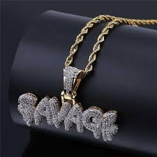 Savage Brass <b>Gold Color Iced</b> Out Micro Pave Cubic Zircon 24Inch ...