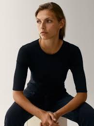 <b>ФУТБОЛКА С КРУГЛЫМ</b> ВЫРЕЗОМ - для женщин - Massimo Dutti
