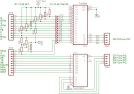 updating an 80 s analog synthesizer using pic microcontrollers chord controller schematic
