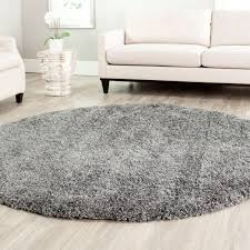safavieh california shag dark gray 6 ft 7 in x 6 ft 7 in round area rug sg151 8484 7r the home depot charming shag rugs