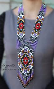 Handmade <b>Beaded Necklace</b> Gerdan Ukrainian | eBay