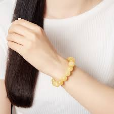 Купить <b>Браслет кальцит желтый</b> (<b>биж</b>. сплав) 12 мм 16 см ...
