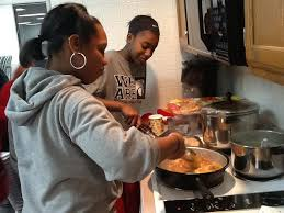 Thank you to all who have supported the Girls Be U program! Image. Cooking Class with former Child Care Kitchen Specialist, Selena Gunn - gbu-cooking-class