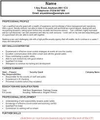 security guard cv example   job seekers forumsgood luck