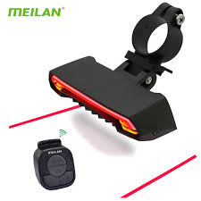 Wireless <b>Bike light</b> Brake Bicycle Rear Light laser taillight Smart ...