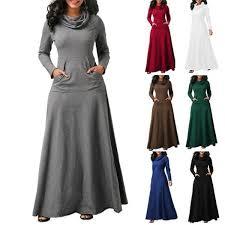 Autumn <b>Winter</b> Women <b>Plus</b> Size Hooded Dress <b>Casual</b> Long ...