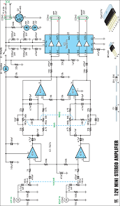 compact high performance  v  w stereo amplifier circuit diagram v  w stereo amplifier circuit schematic