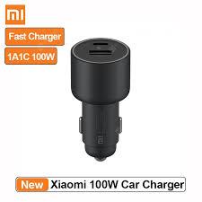 <b>Xiaomi Mi Car</b> Charger <b>100W</b> 1A1C MAX Fast Charging Dual-port ...