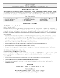 systems analyst sample resume  seangarrette co   financial analyst resume examples