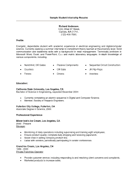 college internship resume getessay biz college student internship samples in college internship
