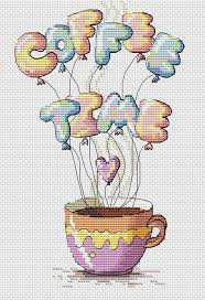 Coffee counted cross stitch pattern PDF <b>Ok but</b> first coffee Hot drink ...