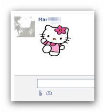 Caritas y emoticones memes para el chat de Facebook: Hello Kitty ... via Relatably.com