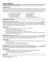 executive chef resume examples best word resume template