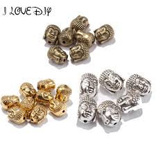 <b>20Pcs</b> New Tibetan Silver Gold Buddha's Head Loose <b>Beads</b> For ...