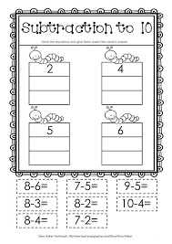 Worksheets and Cut and paste on PinterestFree Takeaway worksheet! Subtract to 10 cut an paste!