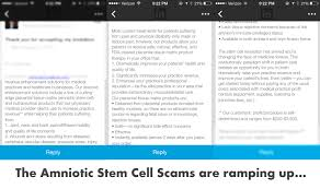 amniotic fluid stem cells pros and cons more scams regenexx acirc reg  amniotic fluid stem cells pros and cons
