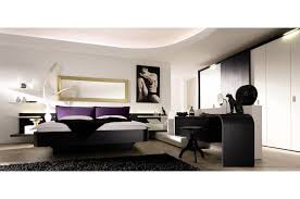 elegant interior bedroom decorating ideas with black wooden bedframe using white bed cover beside simple study bedroom furniture interior designs pictures