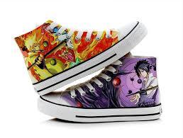 High Q Unisex Anime Cos <b>Naruto Canvas Shoes</b> Uchiha Sasuke ...