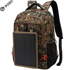 New POSO Solar Charging <b>Backpack Outdoor</b> Camouflage ...
