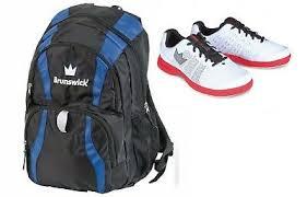 <b>Mens</b> Brunswick <b>FUZE</b> Bowling Shoes White/Red Sizes 7-14 ...