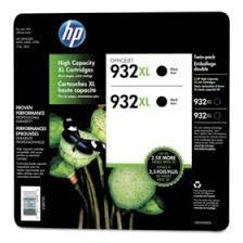 <b>HP</b> 932XL High Yield Original Ink Cartridge, Black, <b>2 Pack</b>, 1,000 ...