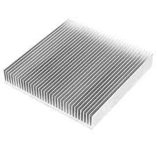 <b>Silver</b> Tone <b>Aluminum Radiator</b> Heat Sink Heatsink 90mm x ...
