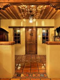 wood floor tile foyer  original classic new mexico homes mexican style foyer sxjpgrendhgtvco